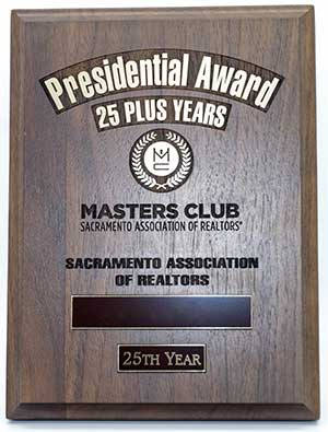 25 Year Plaque